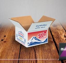 طراحی بسته بندی پنیر پالود