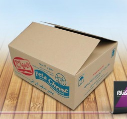 طراحی بسته بندی پنیر صباح