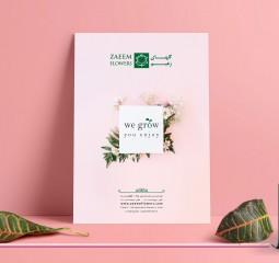 طراحی پوستر گلهای زعیم