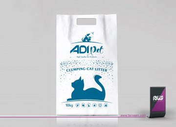 طراحی بسته بندی خاک گربه ADIpet