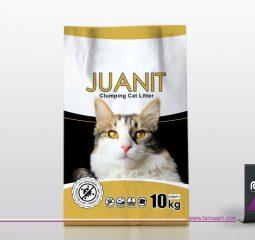 طراحی لیبل بسته بندی خاک گربه ژوانیت