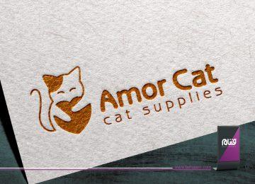 طراحی لوگو Amor Cat