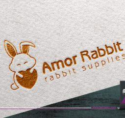 طراحی لوگو Amor Rabbit
